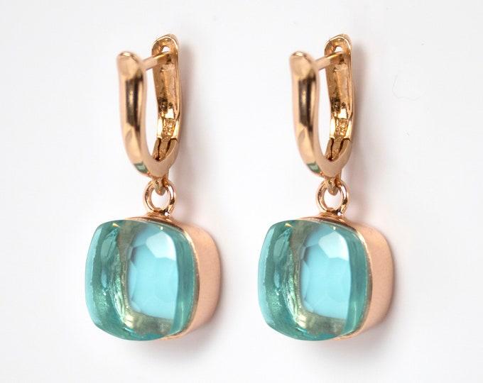 Sucrée Collection | Earrings | Sky Blue | Large Model