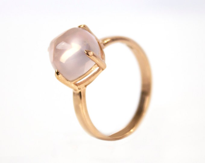 Sugarloaf Collection | Ring | Natural Rose Quartz | Small Model