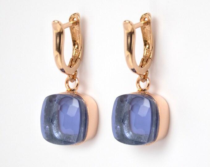 Sucrée Collection | Earrings | Iolite Quartz | Large Model