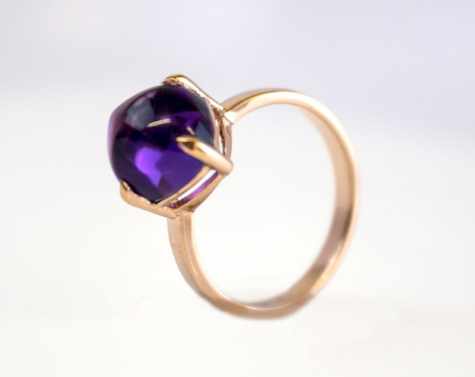 Sugarloaf Collection | Ring | Purple Amethyst | Small Model
