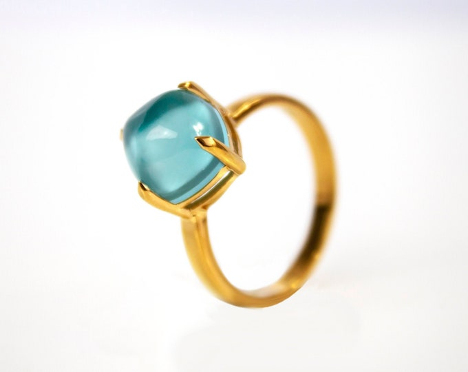 Sugarloaf Collection | Ring | Turquoise Aquamarine | Small Model