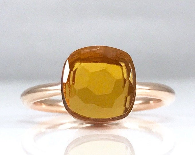 Sucrée Collection | Ring | Golden Citrine | Small Model