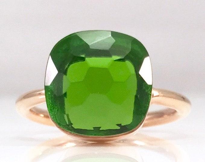 Sucrée Collection | Ring | Peridot Quartz | Large Model