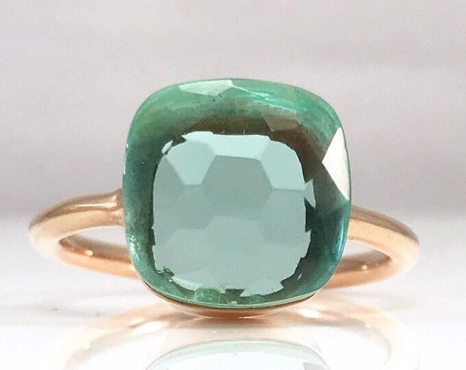 Sucrée Collection | Ring | Aquamarine Quartz | Large Model