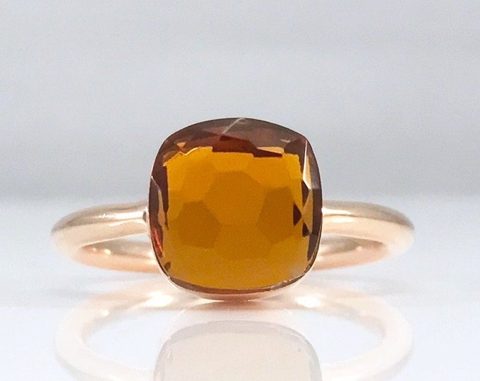 Sucrée Collection | Ring | Orange Citrine | Small Model