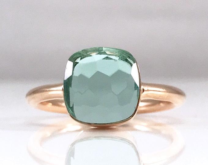 Sucrée Collection | Ring | Aquamarine Quartz | Small Model