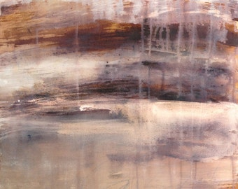Original painting inks and pigments on canvas, abstract desert landscape, abstract painting. Contemporary art.