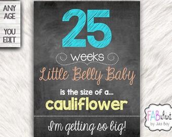 Custom Weekly Pregnancy Signs Chalkboards Editable Pregnancy Countdown, Maternity Countdown Board, Pregnancy Weekly Boards, Printable, DIY