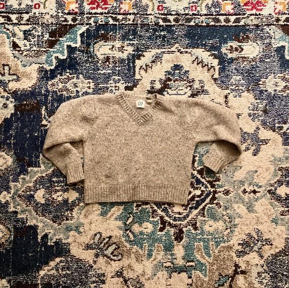Vintage Cropped Wool Sweater