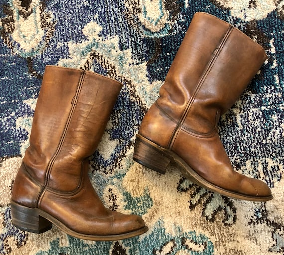 Vintage 1970s Frye Brown Leather Boots