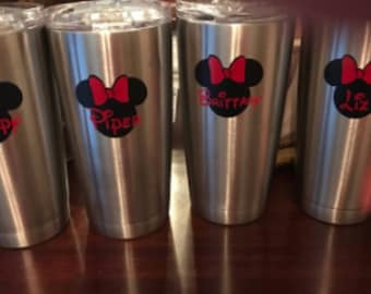 Personalized Minnie Decals Set of 7