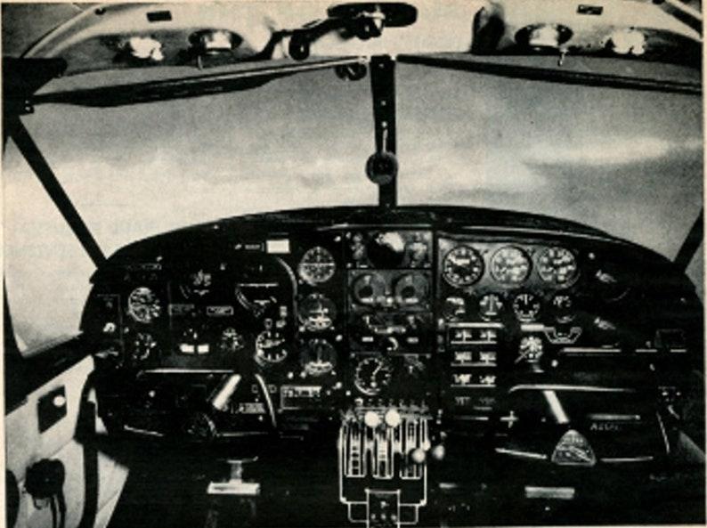 1962 Vintage Magazine Print Ad Piper Aztec Featuring AltiMatic Autopilot  Great View Of Cockpit 02C008