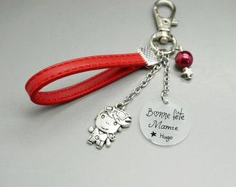 Cadeau personnalisé pour Daddy Mummy Nanny Grand-Père Mère Fils Fille Porte-clés cadeaux