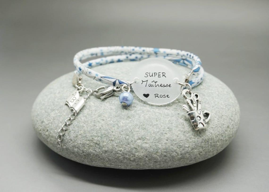 bracelet liberty bleu cabochon Super Maîtresse image 0