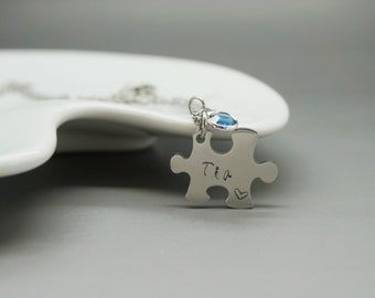 puzzle necklace - Tia necklace  - Favorite Tia -  puzzle custom Aunt swarovski - Aunt Gift - Aunt Jewelry - Special Aunt - Spanish Jewelry