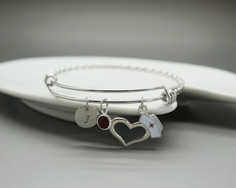 Medical Bracelet, She believed She Could Encouragement Jewelry,Medical symbol bangle, nurse gift, nurse bangle, Nurse graduation gift