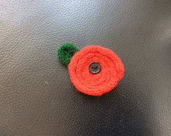 Knitted Poppy Flower