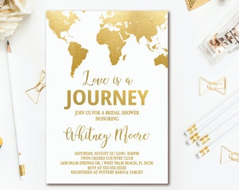 World Map Wedding Invitations.World Map Invitation Etsy