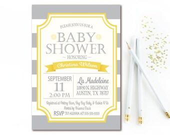 Yellow Baby Shower Etsy