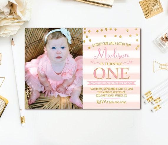 Pink Gold Birthday Party Invitation
