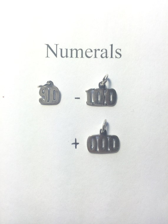 Ster Number Numeral Pendants #/'s 00-09 #/'s 1-9 #402