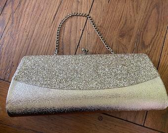 Vintage Evening Bag Clutch Gold Color