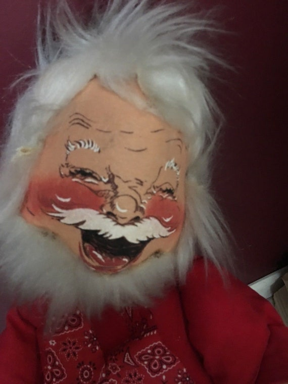 Vintage Christmas Annalee Mobilitee Doll 60s 70s Santa W/Sack   Etsy
