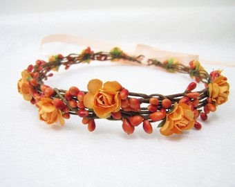 Orange flower crown  06808000ca5