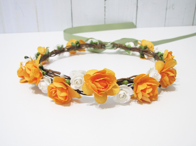 Bridesmaid Ivory Alice Band Headband Woven Satin Ribbon Flower Girl