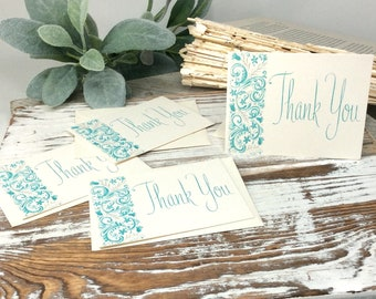 Ephemera Thank You Note Cards, Cards, Flat Cards, Vintage Note Cards, Thank you Cards - Note Card - VINTAGE