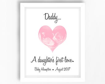 Personalised Gift From The Bump Dad To Be Birthday Dads First Unique Ultrasound Daddy