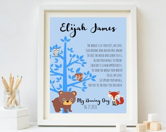 Naming Ceremony Gift, Naming Day Poem, Baby Boy Baptism Gift, Christening Gift, Personalised Naming Day Gift, Personalised Baptism, New Baby