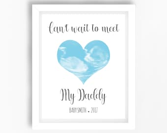 Daddy Gift From The Bump Dad To Be Expectant Father Expecting Personalised Birthday Unborn Baby Boy