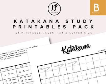 Katakana Study Printables Pack