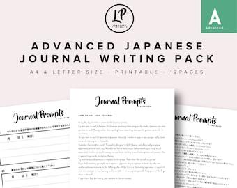 Advanced Japanese Journal Writing Pack