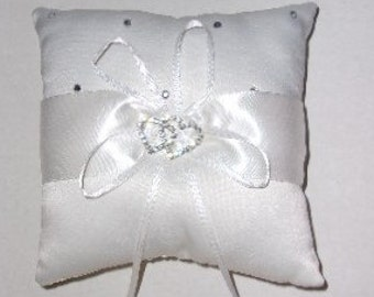 Double Heart Ring Bearer Pillow, Wedding Ring Bearer Pillow Decoration, Ring Bearer's Pillow, Wedding Decoration, Wedding,