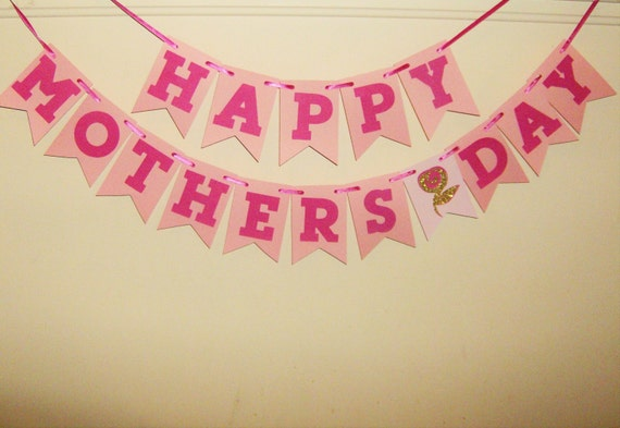 Happy Mothers Day Banner Sign