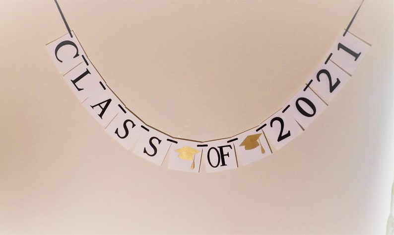 Class of 2021 Banner 2021 Graduation Banner Commencement 2021 GraduationDecoration 2021 Banner Black and White 2021 Sign