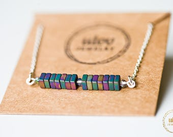 Multicolor necklace, woman necklace, woman's jewelry, gift idea for her, christmas gift, birthday gift, for her, romantic gift, 2018