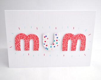 Handmade Mother's Day Card, Thank You Card, Birthday Card - Blank Inside