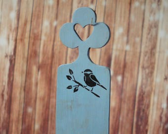 Wood Wall Scone, Rustic Home Decor, Mom from daughter, gift for mom, mom wall art, gift hostess, mom from son, blue bird, wooden anniversary