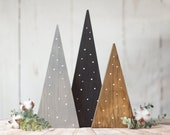 Farmhouse Christmas Tree set, Table Centerpiece, Rustic Home Decor, Fireplace Mantle Holiday Decorating Ideas, House Gift Trends 2019, Porch