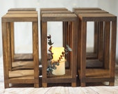 15 Bulk Wedding Lantern Centerpiece, Rustic Wedding Table Decoration, Farmhouse Decor, Wooden Candle Holder, Country Barn wedding Gift
