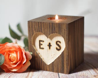 Personalized Candle Holder Set
