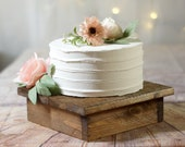 """10"""" Wood cake stand, rustic wedding decor, reclaimed wood, Wooden riser box, cupcake, baby bridal shower, table decorations, handmade"""