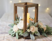 Wood Lantern, Centerpieces for wedding, lantern centerpiece, rustic home decor, wedding center pieces for tables, rustic wedding decor, ETOT