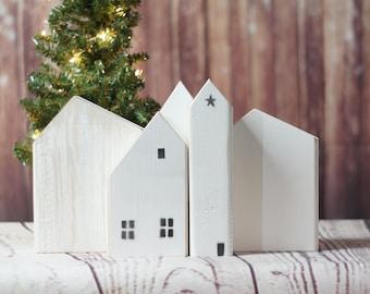 White Wooden houses
