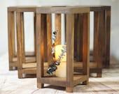6 Bulk Wedding Lantern Centerpiece, Rustic Wedding Table Decoration, Farmhouse Decor, Wooden Candle Holder, Country Barn wedding Gift