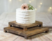 Set of Wood Cake Stands, Rustic Wedding Table Decor, Wood Cake Riser, Bridal Shower, Baby Shower, Farmhouse Stand, Wooden cupcake pie Stand