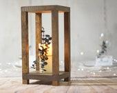 wood lantern centerpiece wedding, rustic lantern home decor, Table Lantern Decorations, wedding ceremony, reception decorations, simple idea